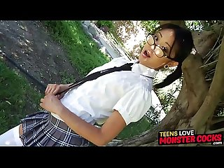 Inked Asian schoolgirl rides dick and craves cum in mouth