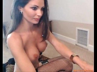 Sexy brunette in lingerie with big tits chats on live stream combocams period com