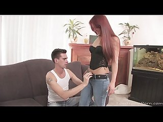 Lusty redhead can't wait to get drilled