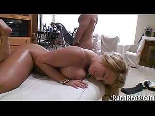 Busty blonde fuck massage