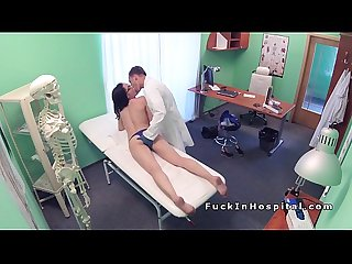 Doctor examines and fucks brunette babe