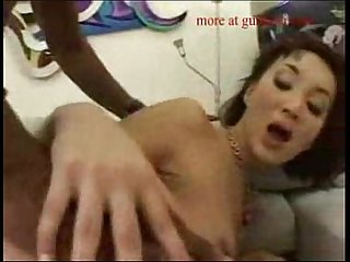 Horny asian maid pounded by black guy