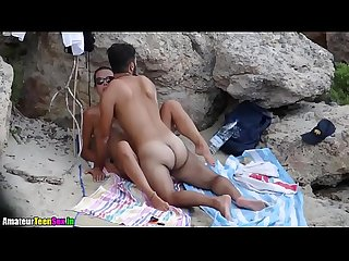 Amateur couple having quick sex on the beach - amateurteensex.in