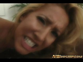 Hot blonde full of sperm after fucking bbc facial cumshot