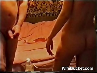 Homemade threesome with a bored wife