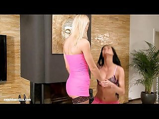 Pretty in pink by sapphic erotica Lesbian Sex with danae uma
