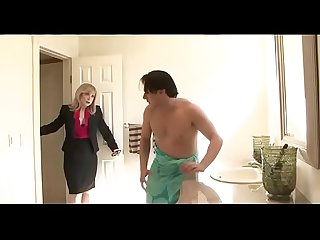 horny mom seduces son's friend - Watch Part 2 at FilthyGeek.com