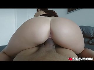 Brunette naiomi mae huge massive hard dick in her pussy