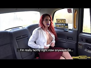 Sexy personal trainer chick gets fucked hard in A taxi