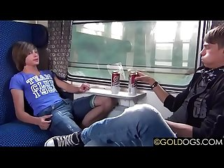 Twink Feet Massage In Train