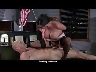 Horny big tit milf fucks employee S big dick in the office 30