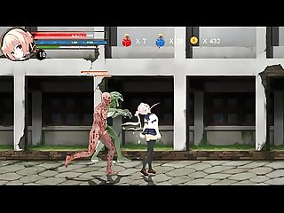 Hentai game ryona fighting girl mei gameplay period teen girl in Sex with aliens