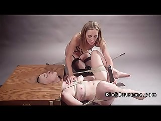 Blonde rimming her blonde mistress
