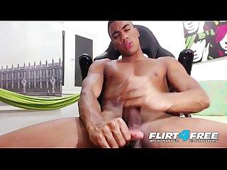 Tato gari flirt4free blatino hunk gives his bbc some self love