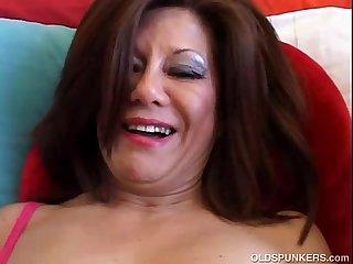 Sexy mature brunette