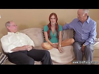 Old man solo and fat young girl this doll took it at both finishes at