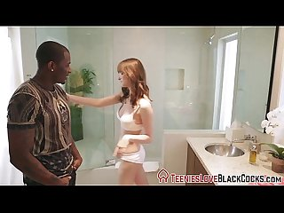 Shower teen cum black