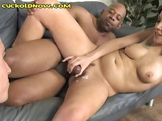Cuckold Eats Black Cum