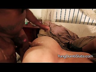 Superhotfilms : Don Whoe fuck the red yung dumb slut!!
