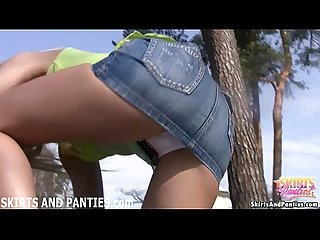 Flashing my panties outside gets me so wet