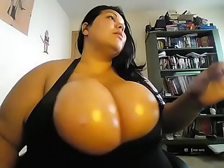 Wow large bbw showing giant boobs
