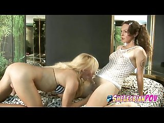 Hardcore shelesbian action with rough anal and oral