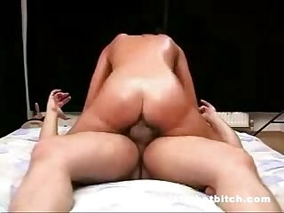 Horny bitch riding dick for fun