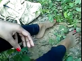 Real deshi boy sucking his sexy girl s boob at forest