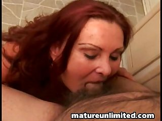 Lusty granny sucking