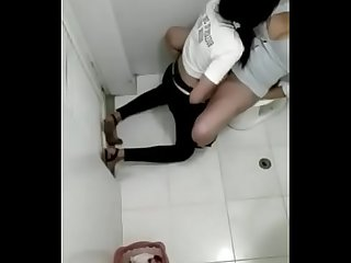 Indian lesbian girls caught in public toilet