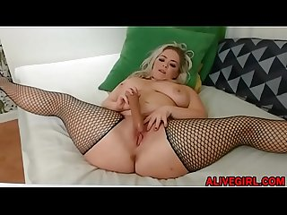 Posh plumper-CocoLoca with huge booty pussy masturbates