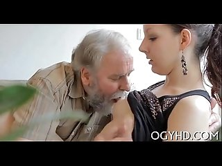 Young babe licked by an old guy 240p