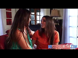 Two teen sisters fuck each other mystepsiblings com