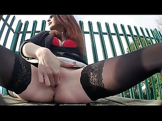2 risky outdoor public squirting videos
