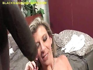 Mouthful of black cum to swallow
