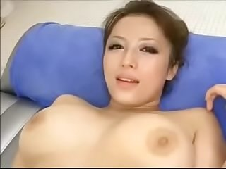 Pretty busty Japanese Milf S cunt creampied