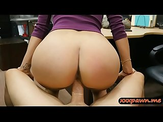 Big tits woman gets drilled by pawn man at the pawnshop