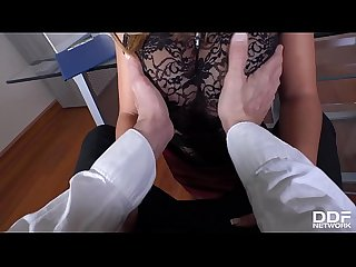 Hot Milf secretary Frida Sante's got a craving for big dick of her boss