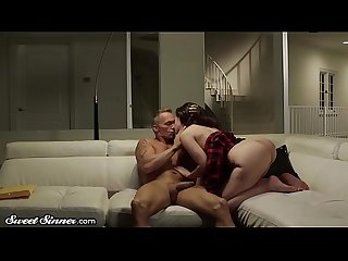 SweetSinner Gia & Stepdad Have Romantic, Sensual Sex