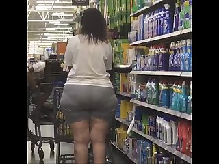 Tall thick pawg milf with a phat wide ass and huge hips shopping a must see