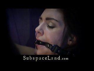 Ball gagged slave takes pussy ruthless game in silence