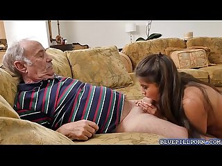 Jeleana marie strips and fucks with old men