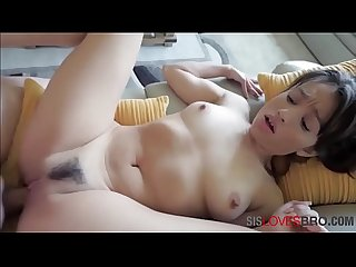 Spilling milk all over and Sliding cock into SISTER- Liv wild