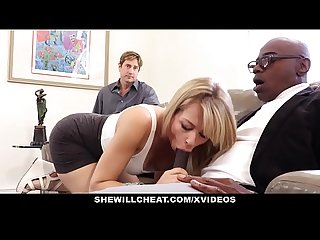 Shewillcheat sexy blonde girlfriend fucks bbc for cuckold boyfriend