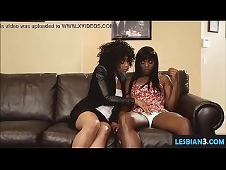 Dirty ebony mom fucks sweet daughter