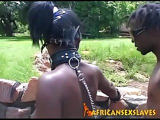 Ebony slave is about to get it