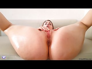 Hard Fuck Big Oiled Ass MILF CloseUp - Cristall Gloss