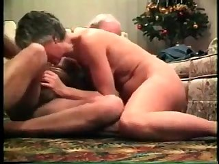 Mature couple get their action going all over the floor