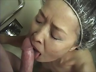 Mature japanese cocksucker