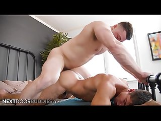 NextDoorBuddies - Muscle Hunk Collin Simpson Dominates Jock